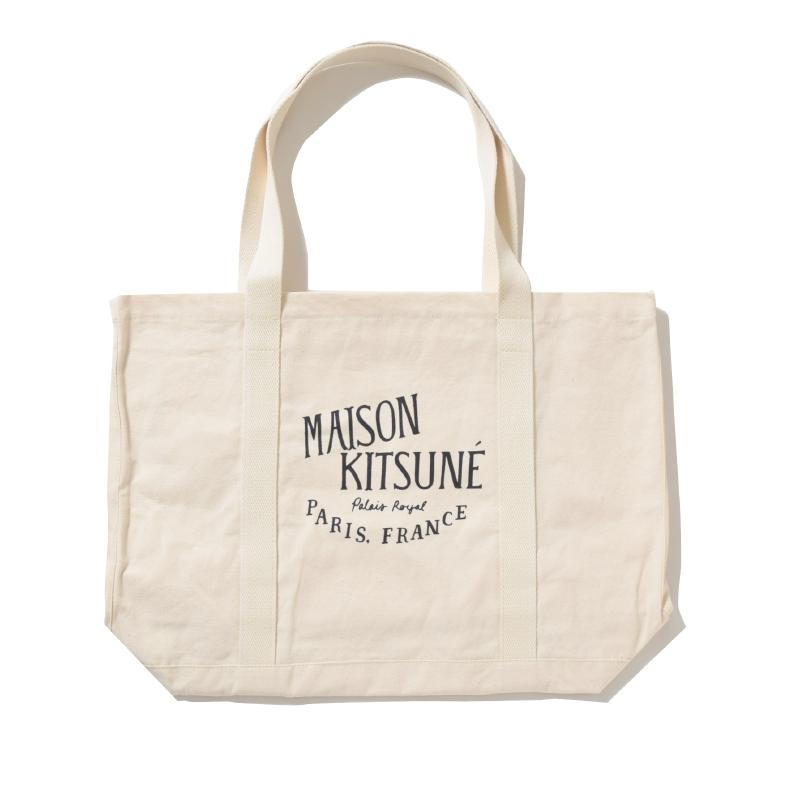 MAISON KITSUNE PARIS メゾンキツネ PERM SHOPPING BAG PALAIS ROYAL キャンパストート