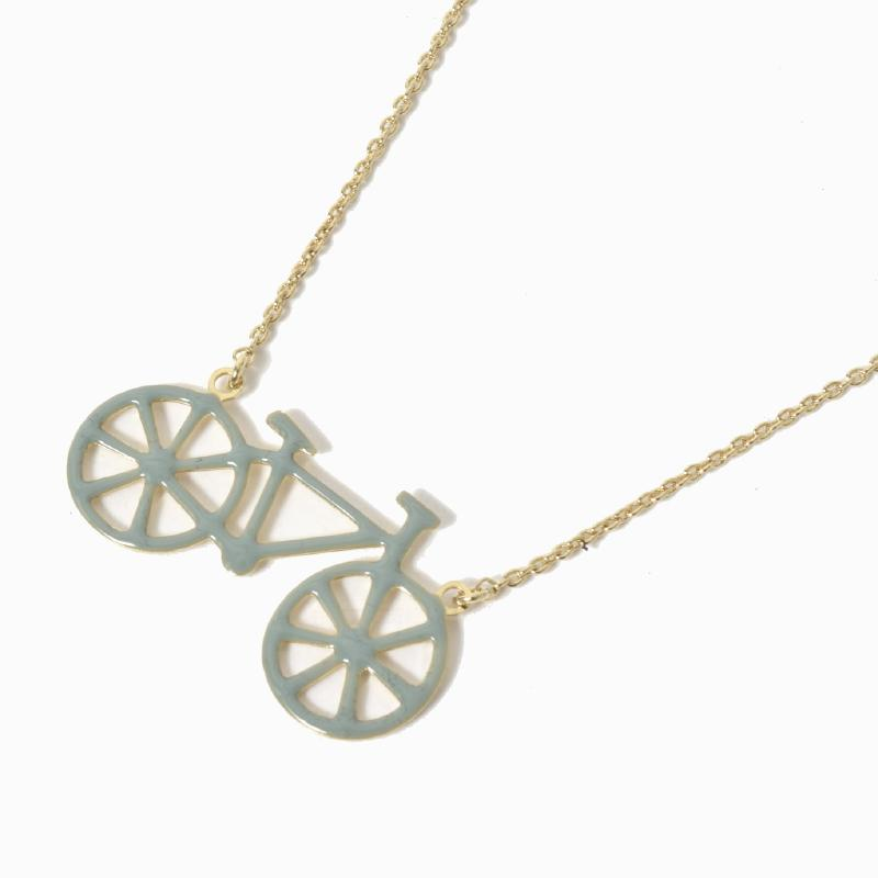 titlee ティトリー 七宝焼き ネックレス 自転車 NECKLACE-BICYCLETTE