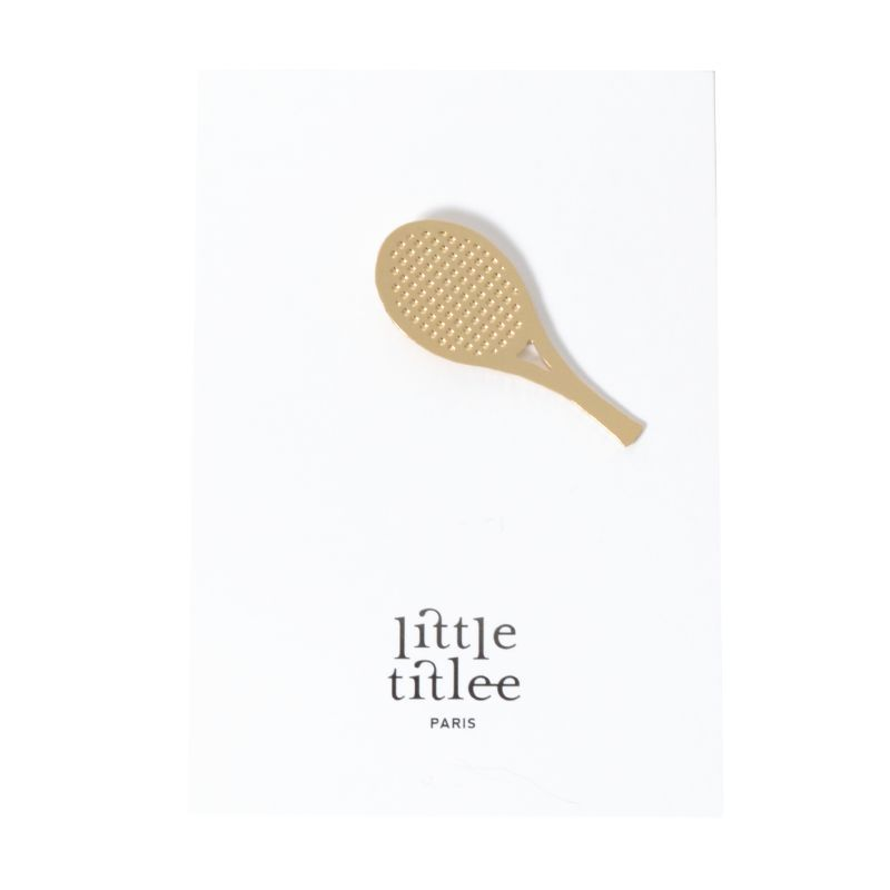 titlee ティトリー ピンバッジ ラケット RACKET