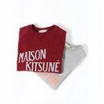MAISON KITSUNE PARIS メゾンキツネ R-NECK SWEATER WITH PRINT PALAIS ROYAL プリント スエット